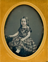 Jeremiah Gurney Daguerreotype - Beautiful Girl in Tinted Dress