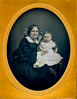 Jeremiah Gurney Daguerreotype - Mother and Child Half Plate