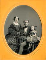 Jeremiah Gurney Daguerreotype - Half Plate, Family of Three