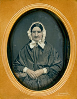 Jeremiah Gurney Daguerreotype Quarter Plate-Elderly Quaker Woman with Spectacles