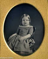 J Gurney Early Daguerreotype Young Girl in Gurney's High Chair
