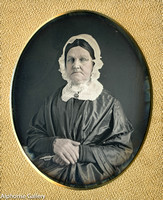 J Gurney 4th Plate Daguerreotype of Quaker Woman with Blue Eyes