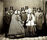 Julia Parmly & Frederick Billings Wedding Party April 1862 at The New York Historical Library