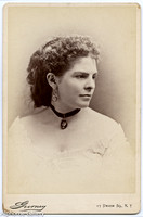 Benjamin Gurney cabinet card of Annie Louise Carey