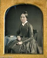 J Gurney quarter plate daguerreotype of Woman with beautiful skin tones c.1846-7