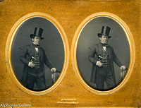 J Gurney 9th Plate Stereoview Daguerreotype