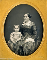 Jeremiah Gurney Half Plate Daguerreotype of Mother and Child